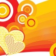 Abstract funky love background — Stock Vector #2914606