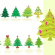 Collection of Christmas trees — Stock Vector #2933283