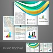 Professional business three fold flyer template, corporate broch — Stock Vector #29823485