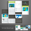 Professional business three fold flyer template, corporate broch — Stock Vector #29824301