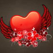 Beautiful love card or greeting card — Image vectorielle