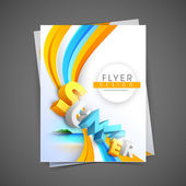 Professional business flyer template, corporate brochure or cove — Stok Vektör