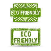 Green rubber stamp with text Eco Friendly natural product icon i — Stock vektor