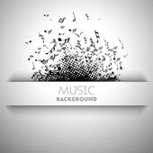 Abstract musical background with musical notes. — Stockvektor