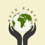 Human hands holding Earth, save earth concept. — Stock Vector