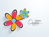 South Indian festival Onam wishes background — Stock Vector