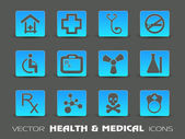 Medical Icon Set. — Vettoriale Stock