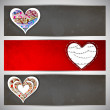 Love website header or banner set. — Stock Vector