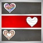 Love website header or banner set. — Stock Vector #29830049
