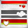 Love website header or banner set. — Stock Vector #29830579