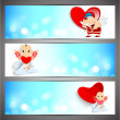 Love website header or banner set.  — ベクター素材ストック