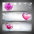 Love website header or banner set.  — Vettoriali Stock