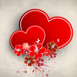 Beautiful love card or greeting card — Imagen vectorial