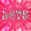 Vector de stock : Beautiful love card or greeting card