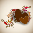 Beautiful love card or greeting card — Vector de stock