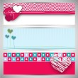 Love website header or banner set. — Stock Vector #29835327