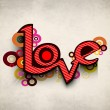 Beautiful love card or greeting card — Vektorgrafik
