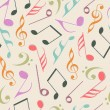 Seamless pattern with musical notes.  — Stock Vector