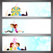 Love website header or banner set. — Stock Vector #29836803