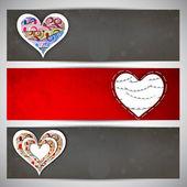 Love website header or banner set. — Stock Vector