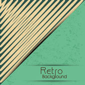Grungy retro background in brown and green color. — Stock Vector