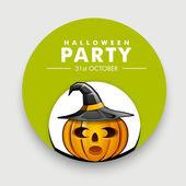 Spaventoso poster, banner o volantino per festa di halloween. — Vettoriale Stock