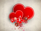 Beautiful love card or greeting card — Stock Vector