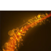 Shiny music background with musical notes. — Stock Vector