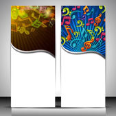Musical banner set. — Stock Vector