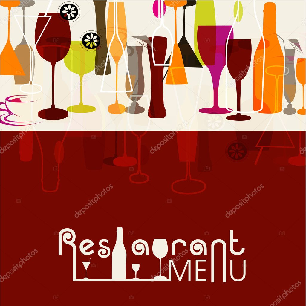 Restaurant menu card design — stock vector