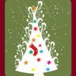 Background with xmas tree — Stock Vector #3301262