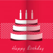 Abstract Happy Birthday greeting card or background. — Stock Vector