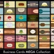 Vintage Business Card  mega collection. Eps 10 format. — ベクター素材ストック