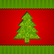Xmas tree for Merry Christmas celebration, can be use as flyer, banner or poster. — Stock Vector #34036047