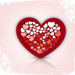Abstract love concept, Valentines Day background. — Image vectorielle
