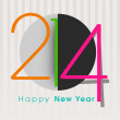 Stock Vector: Happy New Year 2014 celebration background.