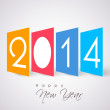 Happy New Year 2014 celebration background. — Stock Vector #34039403