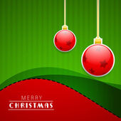 Merry Christmas celebration background. — Stock Vector