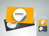 Professional and designer business card set or visiting card set. — Stock Vector