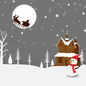 Merry Christmas celebration background. — Vector de stock