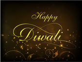 Happy Diwali, festival of lights celebration background in India. — Stock Vector