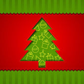 Xmas tree for Merry Christmas celebration, can be use as flyer, banner or poster. — Stock Vector