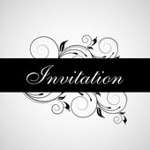 Beautiful floral decorated Invitation card for wedding and other — Stock vektor