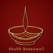 Joyeux diwali, le festival de la fête des lumières en Inde. — Vecteur