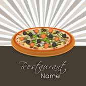 Restaurant menu card design. — Stock Vector