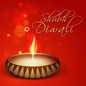 Happy Diwali, festival of lights celebration in India. — Stock Vector