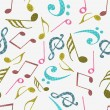 Abstract musical seamless pattern. — Stock Vector