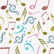 Abstract musical seamless pattern. — Stockvektor