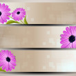 Website header or banner set, love concept with florals.  — Imagen vectorial