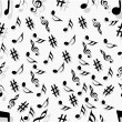 Abstract musical seamless pattern. — Grafika wektorowa